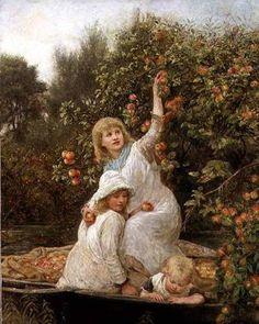 Picking Apples, Frederick Morgan. English (1847-1927)