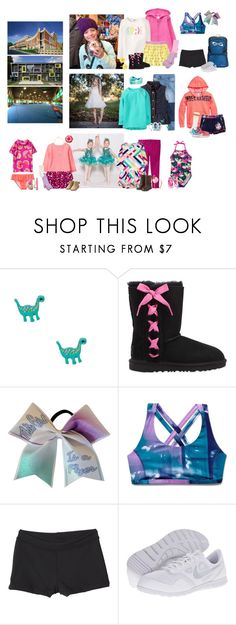 """Tuesday 2-6-18 -School, Cheer, Parkour, Art, & Swim"" by my-creative-mess ❤ liked on Polyvore featuring Gymboree, claire's, UGG, Under Armour, Capezio and NIKE"