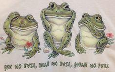 See Hear Speak No Evil Frogs Adult 3XL XXXL by AlwaysInStitchesCo on Etsy