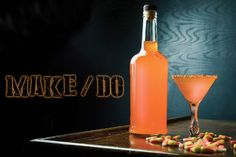 How to Make Candy Corn-Infused Halloween Vodka: For all those candy corn lovers lurking in the shadows out there! Stand tall—this is your season. Craft this sweet vodka with a cup of candy corn and use it to make a citrus-boosted candy cocktail. Festive Cocktails, Halloween Cocktails, Holiday Drinks, Bar Drinks, Yummy Drinks, Vodka Cocktails, Alcoholic Drinks, Best Jello Shots, Homemade Liquor
