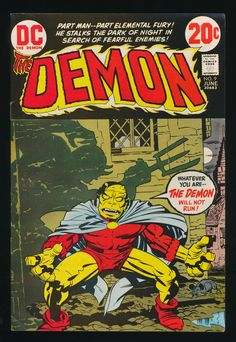 The Demon #9, june 1973. By Jack Kirby.