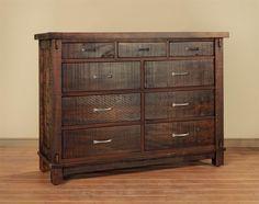 Ruff Sawn Timber Nine Drawer Mule Dresser