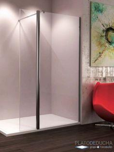 1 abatible Cristal 6 mm con ANTICAL INCLUIDO Modelo TELLA SEVIBAN 120 + 40 cm Mampara de ducha de 1 hoja fija