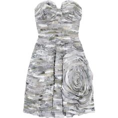 Diane von Furstenberg Delancy silk-chiffon dress (16.125 RUB) ❤ liked on Polyvore featuring dresses, vestidos, diane von furstenberg, strapless dresses, fitted dresses, loose dresses, rose dress, colorful dresses and sweetheart neckline dress