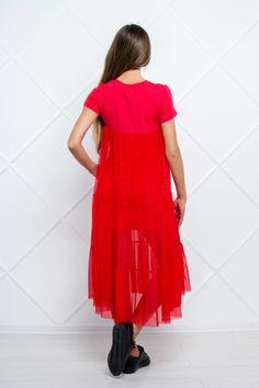 Яркое платье с сеточкой (красный) в интернет магазине Sosiska #сукня #платьякиев #платьяхарькв #платьяодесса #платьяльвов #плаття #платтячко