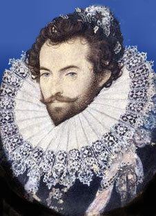 June 19, 1586: First colonists return from Roanoke Island. The colony was established by Sir Walter Raleigh, seen here, for the gathering of riches from the new world. He and the queen also wanted a base for privateers, charged with raiding the Spanish.