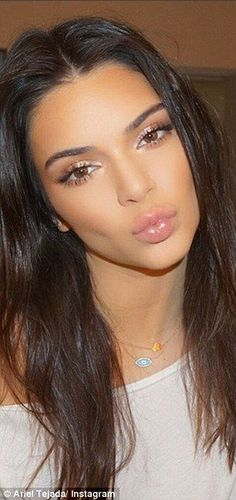 Kendall Jenner also has her makeup done by Ariel...