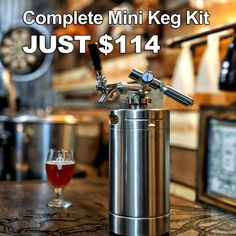 Get this 128 oz Beer Mini Keg System for Just $114 | Homebrewing Deal. Makes a Great Gift for home brewers and craft beer lovers.  #homebrew #homebrewing #beer #craft #beer