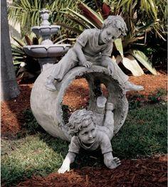 Childhood Memories Home Garden Statue Sculpture       http://www.xoticbrands.net/Childhood-Memories-Garden-Sculpture-Figurine/dp/B004YPVAWO