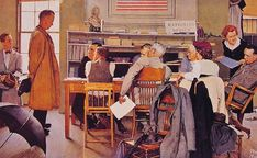 1944 - ration board - Norman Rockwell | by x-ray delta one