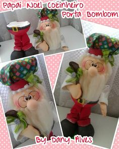 Dany Evarts Christmas Clay, Easy Christmas Crafts, Christmas 2017, Simple Christmas, Santa Decorations, Globe Ornament, Snowman Wreath, Sewing Dolls, Hanging Ornaments