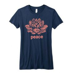 vintage Lotus Peace yoga shirt.  The lotus is a divine symbol in Asian, it represents sexual purity and non-attachment. Comfortable and stylish,...
