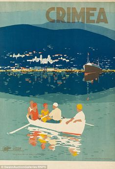 The art deco-style posters were made in the 1930s by Intourist