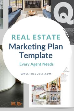 The Real Estate Marketing Plan Template Every Agent Needs - The Close - Peria Halfacre Real Estate Business, Real Estate Tips, Real Estate Marketing, Marketing Strategy Template, Digital Marketing Plan, Marketing Strategies, Marketing Ideas, Real Estate Templates, Commercial