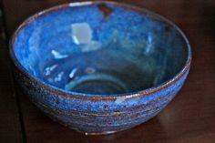 Blue Ceramic Bowl by leahkoring on Etsy, $56.00