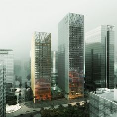 CLC & MSFL Towers by REX Architecture. This beautiful image is by Luxigon.