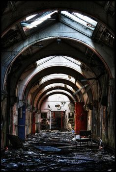 """Whittingham Asylum, once the largest lunatic asylum in England - I wonder when """"Lunatic"""" was stopped by used to describe Hospitals..."""