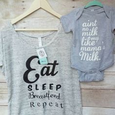 Breastfeeding shirt,Mommy and me shirt,Breastfeeding tops,eat sleep breastfeed repeat,breastfeeding cover,pregnancy gift,baby shower gift by RagsNRoyal on Etsy
