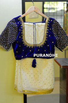 Simple Blouse Designs, Fancy Blouse Designs, Bridal Blouse Designs, Blouse Neck Designs, Blouse Patterns, Kerala Saree Blouse Designs, Mirror Work Blouse Design, Jute, Chiffon
