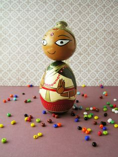 Manipuri Dancer  Handpainted Wooden Indian Classical Dance
