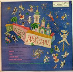 Label: Mercury MG 50084 Design: George Maas. American Music Festival, Mercury Records, Record Art, Olympians, Label, Classic, Illustration, Design, Mexican Party