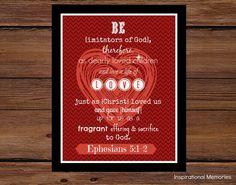 Framed Bible Verse Ephesians 5:1-2 Be imitators of God... by inspirationalmemory on Etsy #love #valentinesday #inspirationalmemories