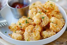 Parmesan Baked Popcorn Shrimp – Easiest and crispiest popcorn shrimp with no frying. Easy, healthy and super yummy   rasamalaysia.com