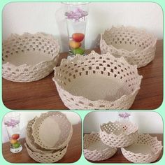 Crochet basket                                                                                                                                                      Mais