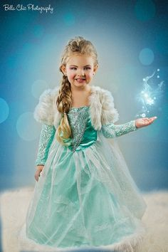 My daughter in her Elsa costume I made her #bellachicphotography
