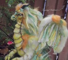 OOAK poseable needle felted Tropical Song by DragonSongStudio