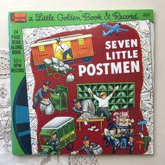 1976 Seven Little Postmen - A Little Golden Book & Record Vintage Children's Books, Vintage Postcards, Little Golden Books, Lazy Sunday, Little Puppies, Vintage Labels, Vintage Advertisements, Over The Years, Childrens Books