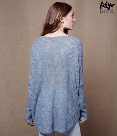 Tokyo Darling Sheer Oversized Dolman Sweater -