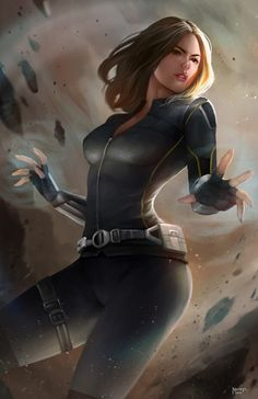 Scarlett Johansson has done such a remarkable job with the character. Here we bring you some of the awesome Black Widow fanart images. Marvel Dc Comics, Marvel Heroes, Marvel Avengers, Marvel Women, Marvel Girls, Comics Girls, Marvel Universe, Quake Marvel, Black Widow Natasha