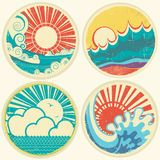 Sun And Sea Waves. Vector Icons Of  Illustration O - Download From Over 54 Million High Quality Stock Photos, Images, Vectors. Sign up for FREE today. Image: 32251708