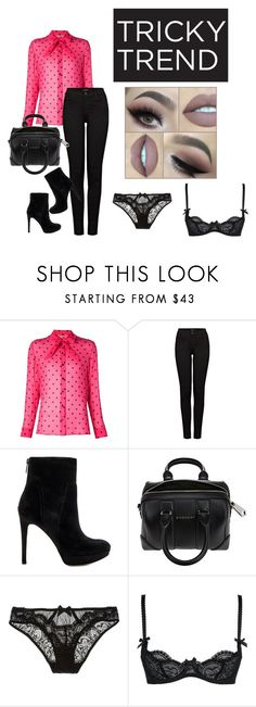 """""""Untitled #105"""" by meraza on Polyvore featuring Yves Saint Laurent, J Brand, Sam Edelman, Givenchy, L'Agent By Agent Provocateur, women's clothing, women's fashion, women, female and woman"""