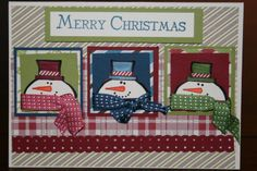 Christmas Card using Stampin' Up products by Monica Stanford 2013
