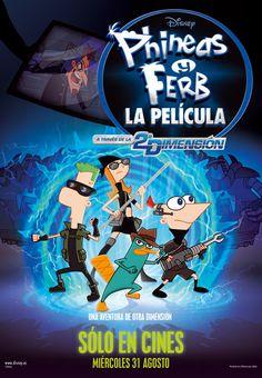 PHINEAS Y FERB. LA PELÍCULA. A TRAVÉS DE LA 2ª DIMENSIÓN (DVD). Walt Disney