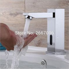 Free shipping High quality Square touchless sensor faucet automatic faucet sensor hospital toilet medical auto taps ZR6109 #Affiliate