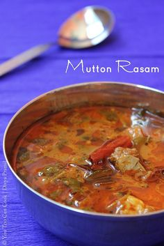 Spicy Tangy Indian Mutton Soup