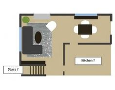 Furniture layout for my split level living room mini L shaped living dining room design ideas