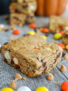 Monster Cookie Bars, a sweet dessert that makes the perfect treat for Halloween. // A Cedar Spoon
