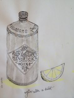 Hendricks gin. My illustration:-)) penandink ❤️