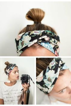 free tutorial on how to sew a hair band can be found here. Fast and . A free tutorial on how to sew a hair band can be found here. Fast and . A free tutorial on how to sew a hair band can be found here. Fast and . Sewing Hacks, Sewing Tutorials, Sewing Patterns, Sewing Tips, Diy Mode, Diy Headband, Turban Headband Tutorial, Turban Headbands, Headband Pattern
