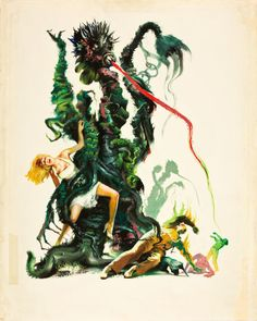 """The Day of the Triffids (Allied Artists, 1962). Joseph SmithOriginal Movie Poster Art (22"""" X 27.25"""")."""
