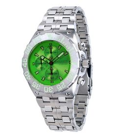 Green & Silver Corsair Chronograph Watch by ANDROID #zulily #zulilyfinds