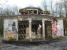 Abandoned kiosk in Vilnius Lithuania