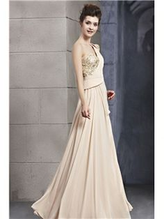 Elegant Decorated One-shoulder Column Floor-length Evening/Prom Dress