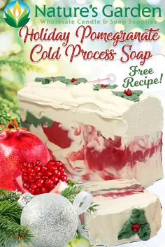 Free Holiday Cold Process Soap Recipe by Natures Garden.