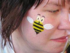 surprised bee face painting design daptomessychurch.blogspot.com
