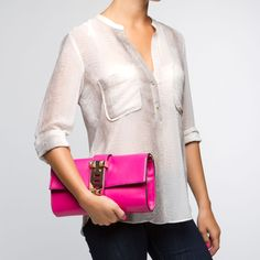 a big fan of this bright pink/neutral duo.